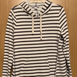 Motherhood Maternity Navy White Striped Hoodie M
